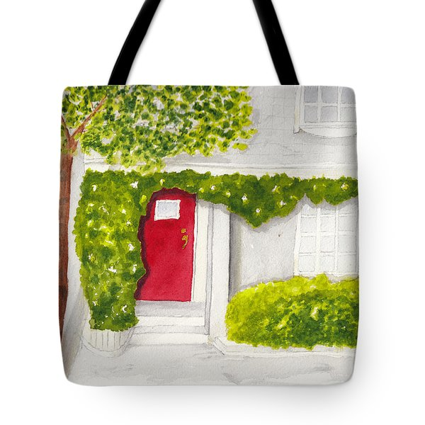 Red Door Morning Light 2 Tote Bag