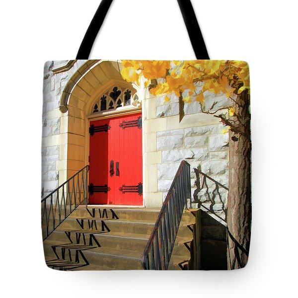 Red Door Tradition Tote Bag
