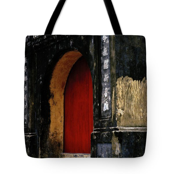 Red Doorway Tote Bag