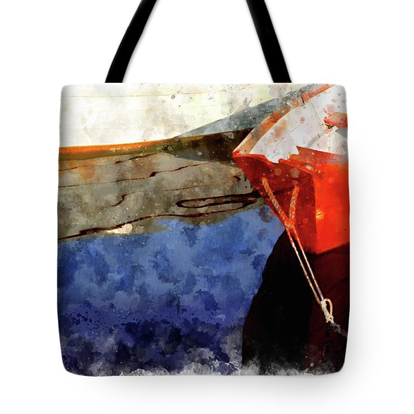 Red Dory Tote Bag by Peter J Sucy