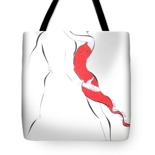 Red Dress -iii Tote Bag