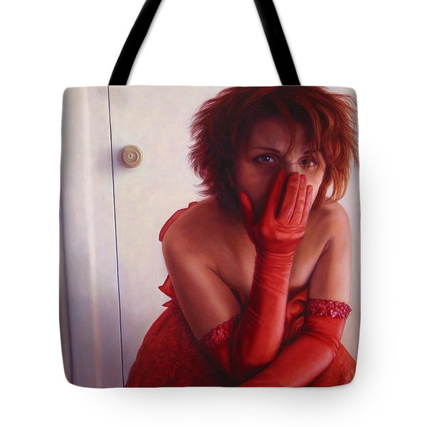 Red Dress Tote Bag by James W Johnson