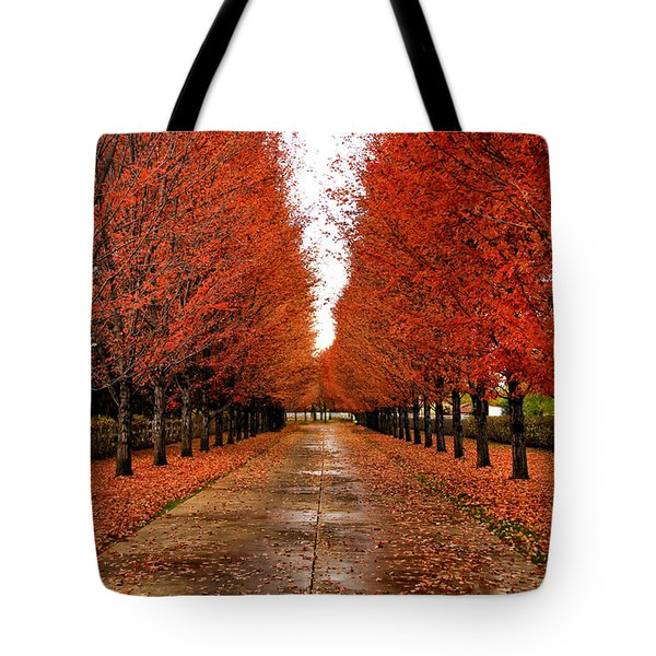 Red Drive Tote Bag