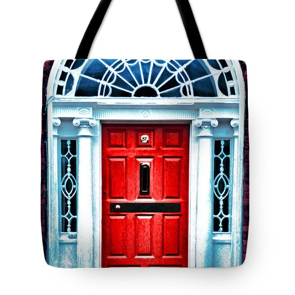 Red Dublin Door Tote Bag