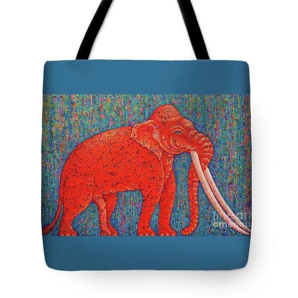 Red Elephant  Tote Bag by Opas Chotiphantawanon