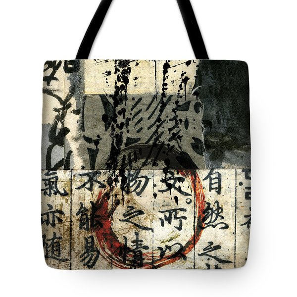 Red Enso Collage Tote Bag