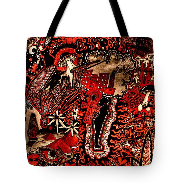 Red Existence Tote Bag