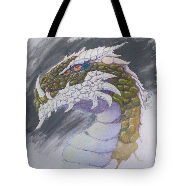 Tote Bag featuring the painting Red Eye Dragon by Robert Decker