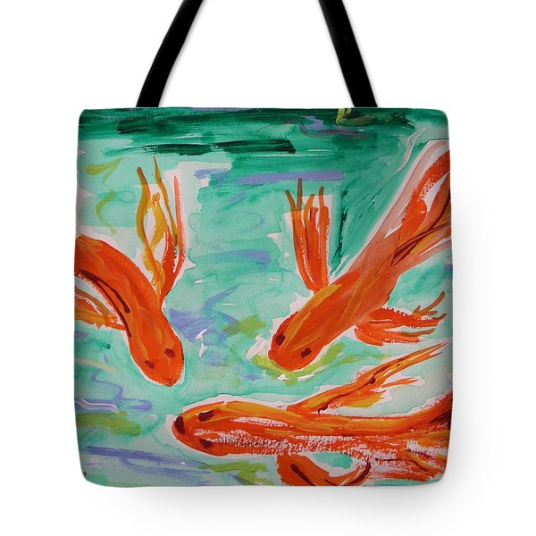 Red Eye Koi Tote Bag by Mary Carol Williams