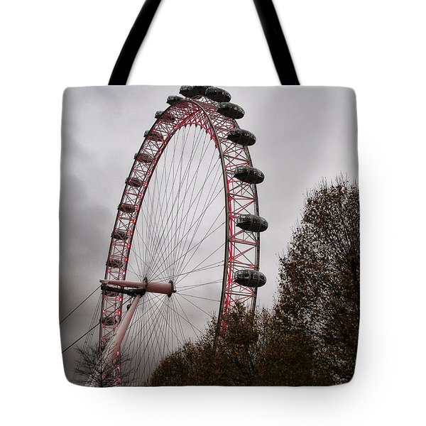 Red Eye Tote Bag by Shirley Mitchell