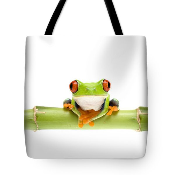 Red-eyed Treefrogs Tote Bag by Mark Bowler and Photo Researchers