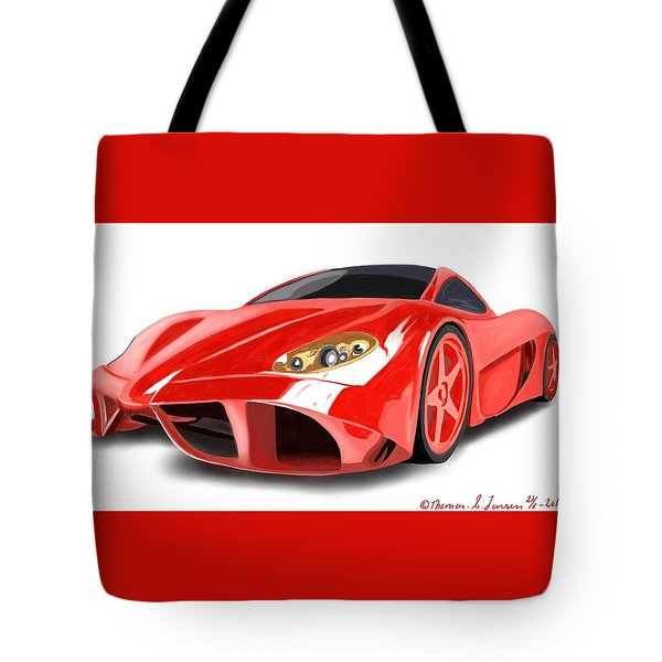Red Ferrari Tote Bag