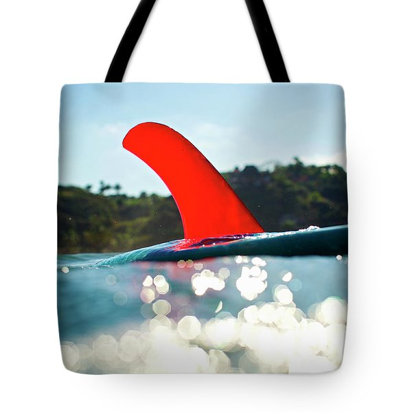 Red Fin Tote Bag