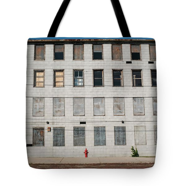 Red Fire Hydrant Downtown In Sheboygan Wisconsin Tote Bag