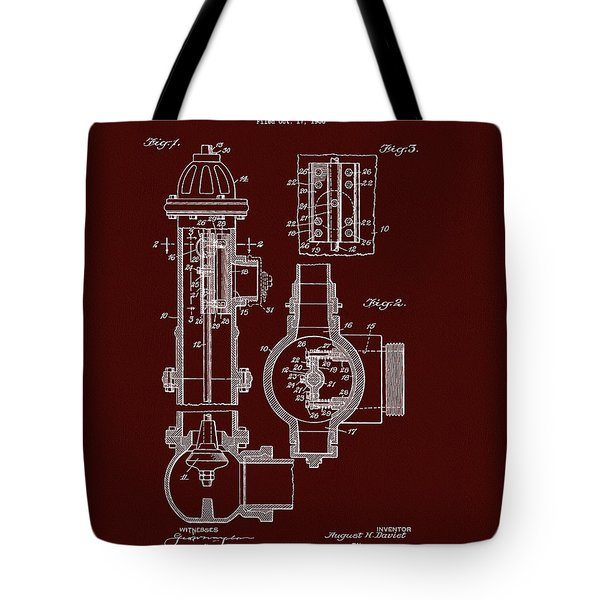 Red Fire Hydrant Patent Tote Bag
