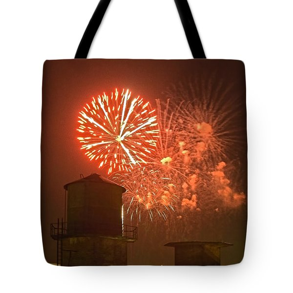 Red Fireworks Tote Bag