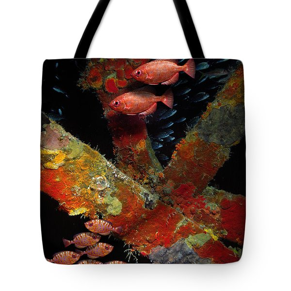 Red Fish On The Rhone Tote Bag