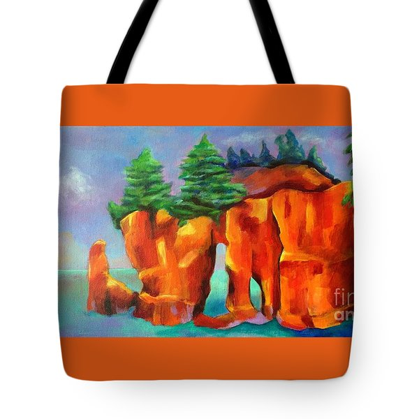 Red Fjord Tote Bag by Elizabeth Fontaine-Barr