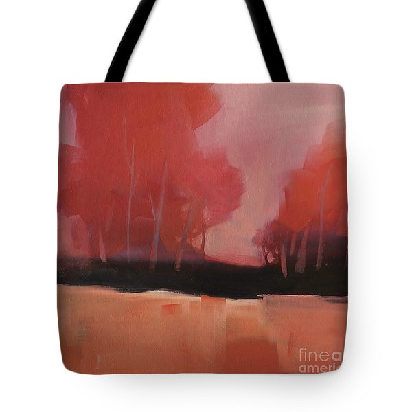 Tote Bag featuring the painting Red Flair by Michelle Abrams