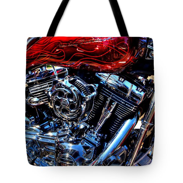 Tote Bag featuring the photograph Red Flame by Adrian LaRoque