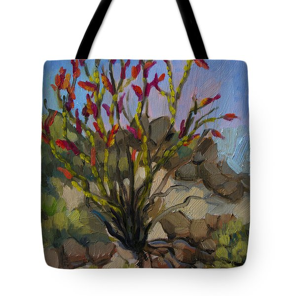 Red Flame Ocotillo 5 Tote Bag