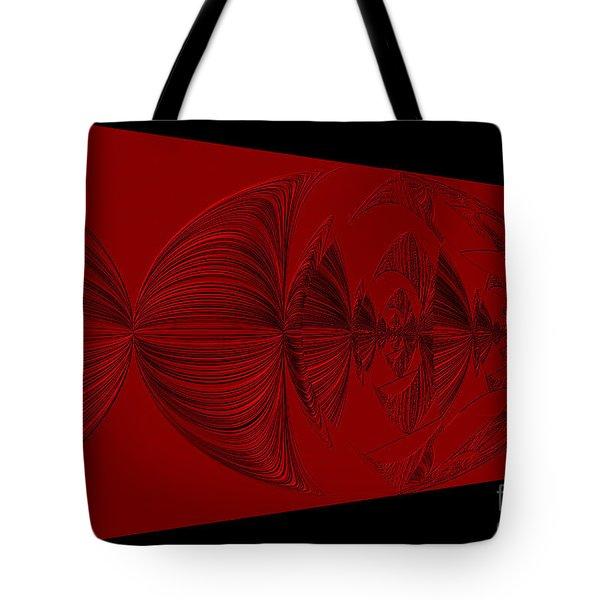 Red And Black Design. Art Tote Bag