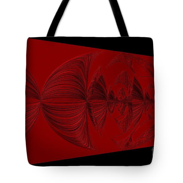 Red And Black Design Tote Bag