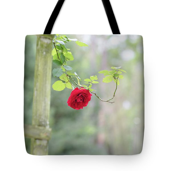 Red Flower Garden Tote Bag