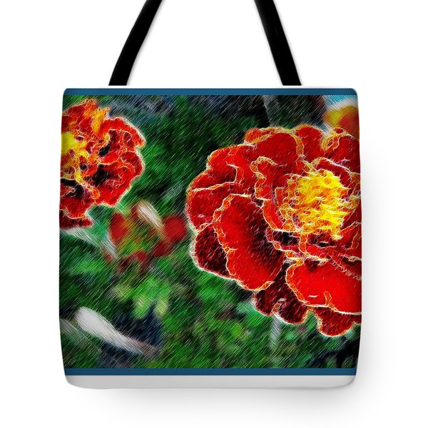 Tote Bag featuring the photograph Red Flower In Autumn by Joan  Minchak