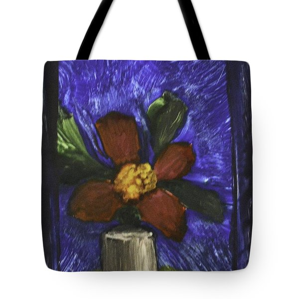 Red Flower In Pot Tote Bag