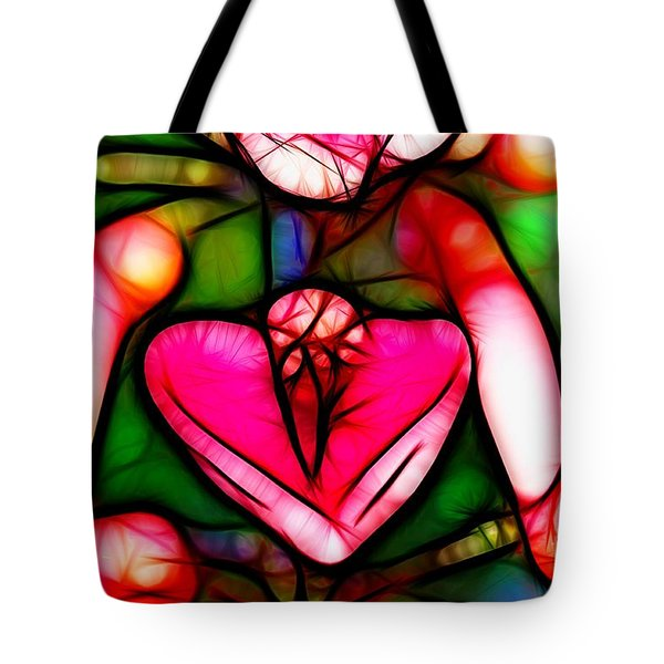 Tote Bag featuring the photograph Red Flower Up Close by Mariola Bitner