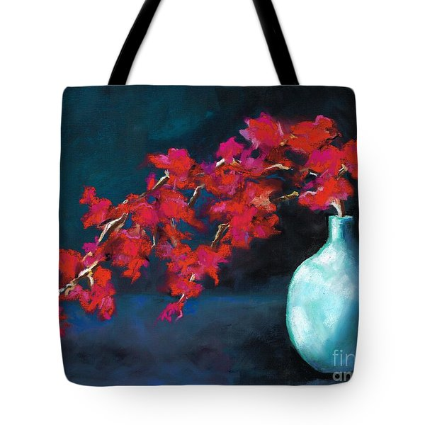 Red Flowers Tote Bag by Frances Marino