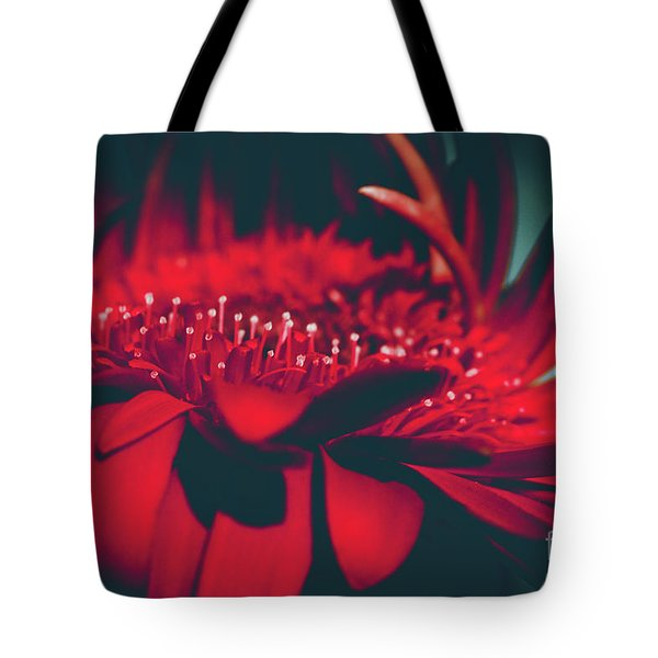 Tote Bag featuring the photograph Red Flowers Parametric by Sharon Mau