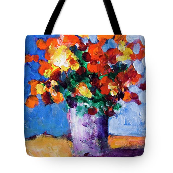 Red Flowers Tote Bag