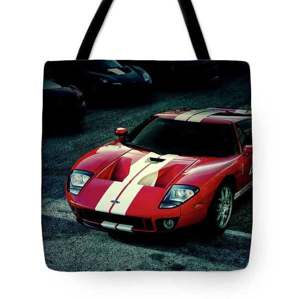 Red Ford Gt Tote Bag
