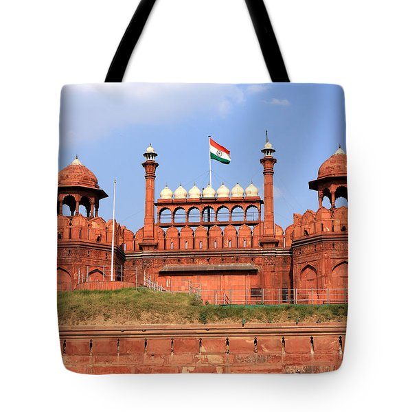 Red Fort New Delhi Tote Bag