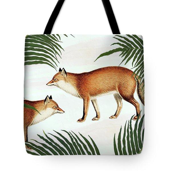 Red Fox Pair Tote Bag by Uma Gokhale