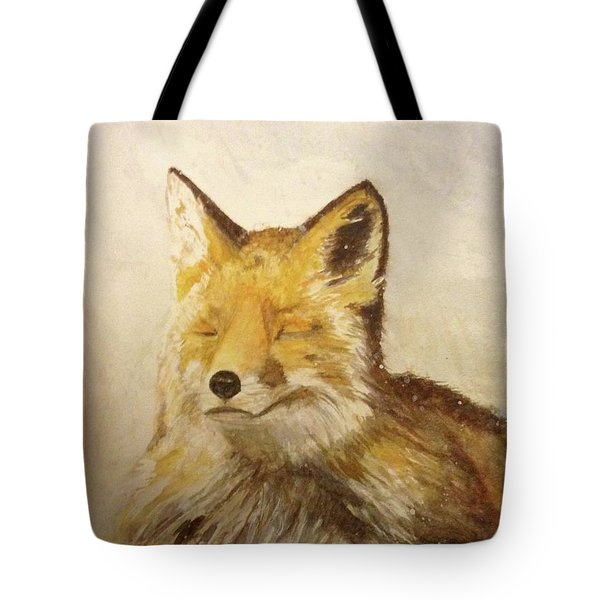 Red Fox Rest Tote Bag