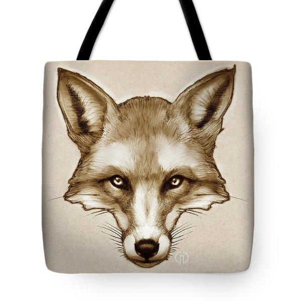 Red Fox Sketch Tote Bag