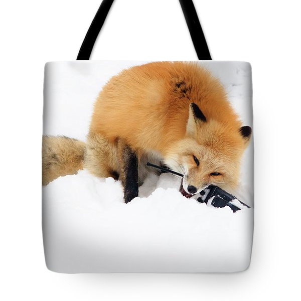 Red Fox To Base Tote Bag