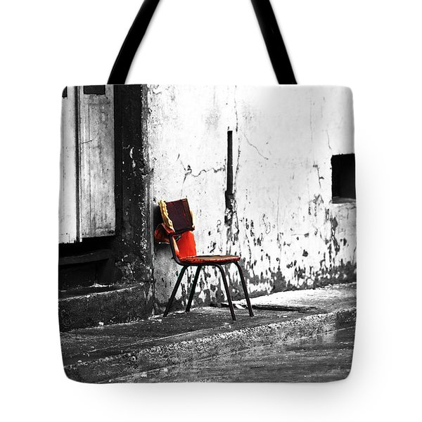 Red Fusion Tote Bag