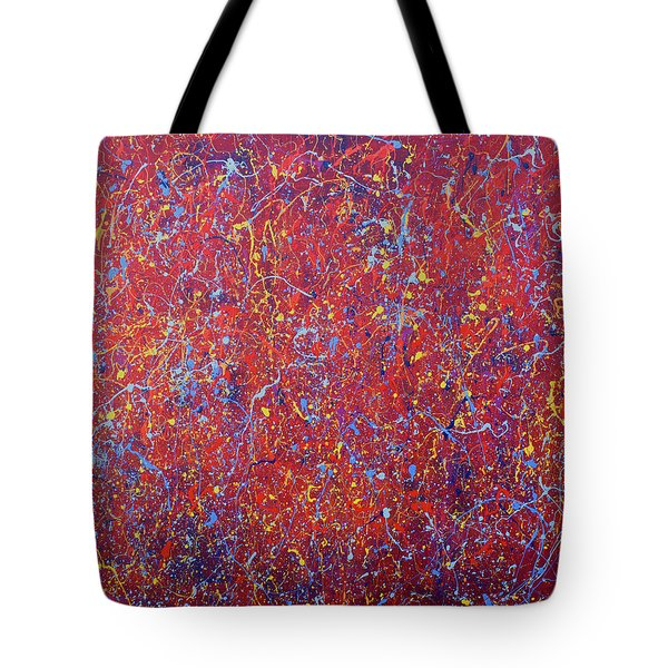 Red Galaxy Tote Bag