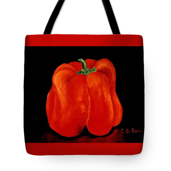 Red Garden Bell Tote Bag