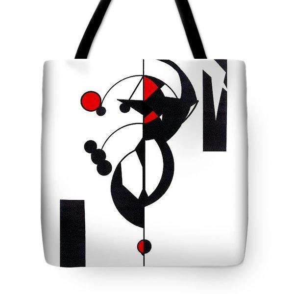 Red Geo Design Tote Bag