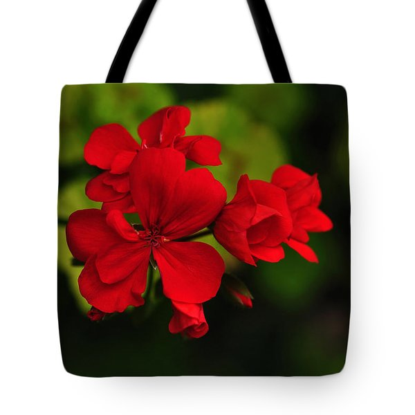 Red Geranium Tote Bag
