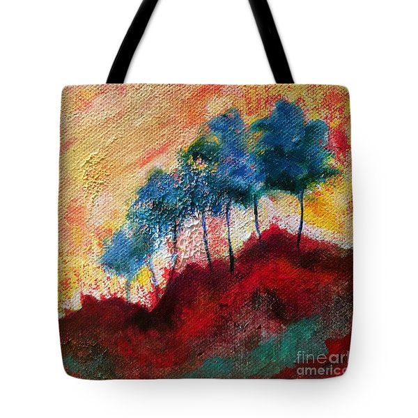 Red Glade Tote Bag by Elizabeth Fontaine-Barr