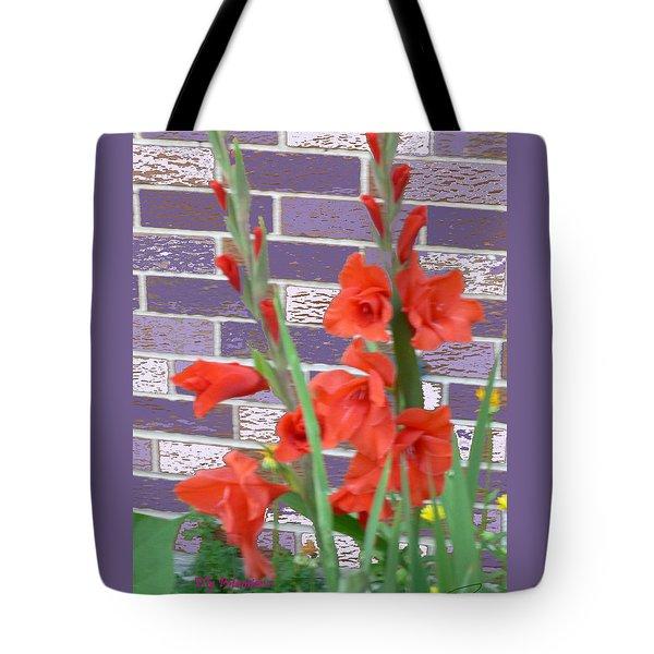 Red Gladiolas Tote Bag