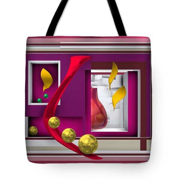 Red Glass In The Room With White Light Tote Bag