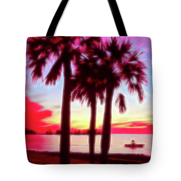 Tote Bag featuring the photograph Red Glow Beach Sunset by Aimee L Maher Photography and Art Visit ALMGallerydotcom
