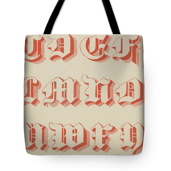 Red Gothic Font Tote Bag